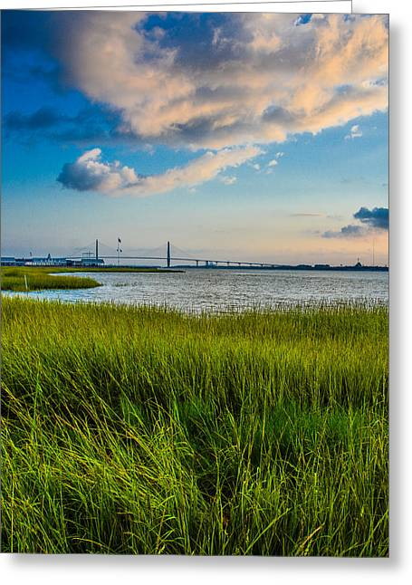 Charleston Greeting Cards - Charleston Harbor Series Greeting Card by Wendy Mogul
