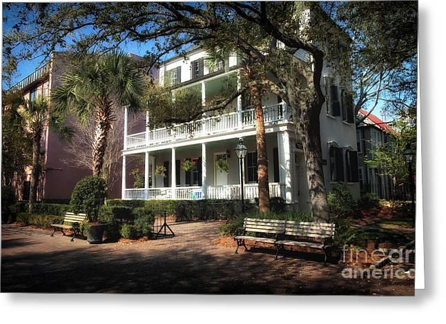 Charleston Houses Greeting Cards - Charleston Greeting Card by John Rizzuto