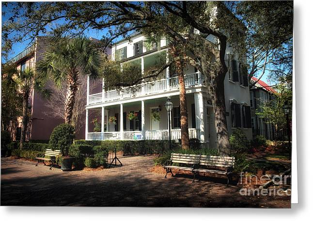 Charleston Houses Greeting Cards - Charleston Greeting Card by John Rizzuto