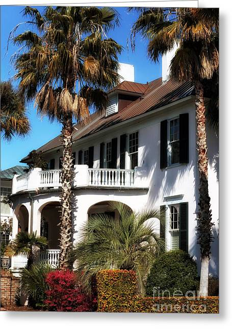 Old School House Greeting Cards - Charleston Living Greeting Card by John Rizzuto