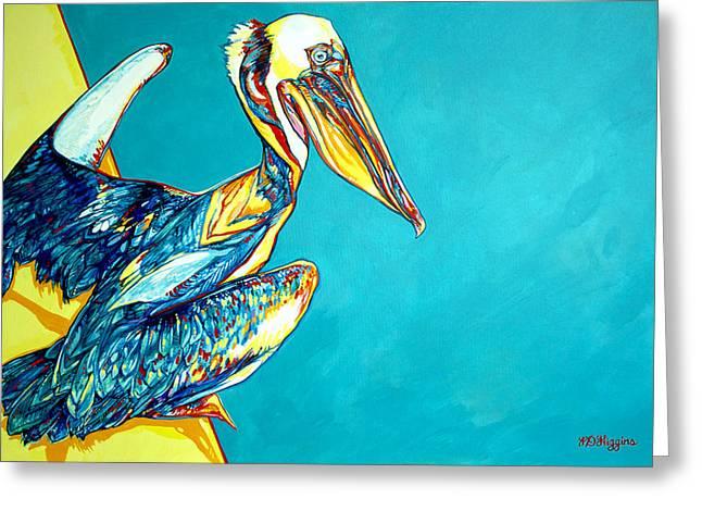 Sea Birds Greeting Cards - Charleston Pelican Greeting Card by Derrick Higgins