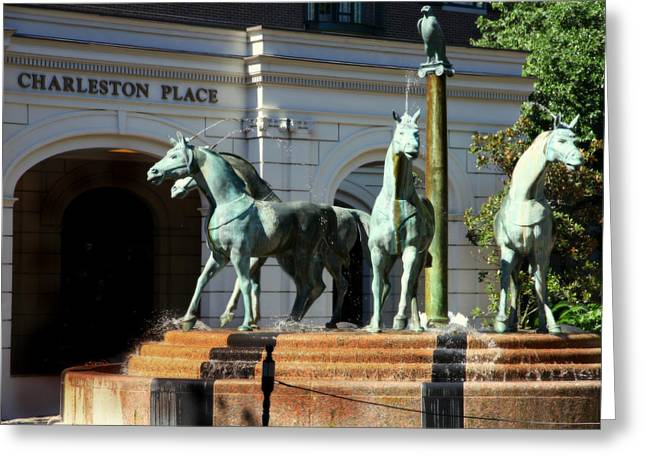 5 Star Greeting Cards - Charleston Place Greeting Card by Karen Wiles