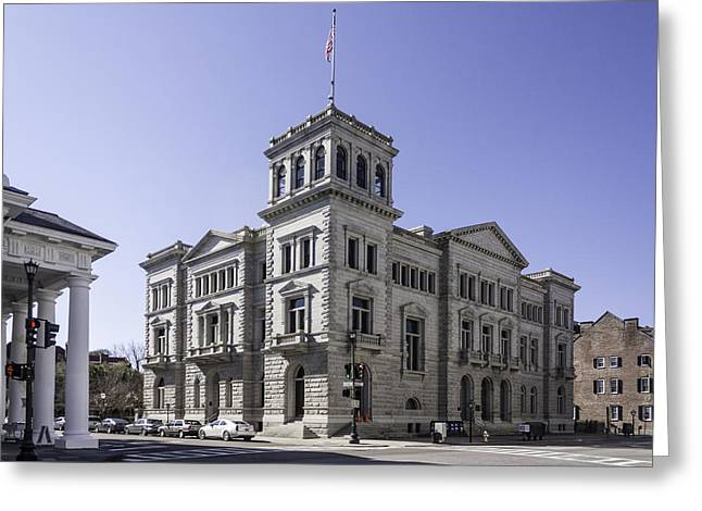 Charleston Post Office And Courthouse Greeting Card by Lynn Palmer