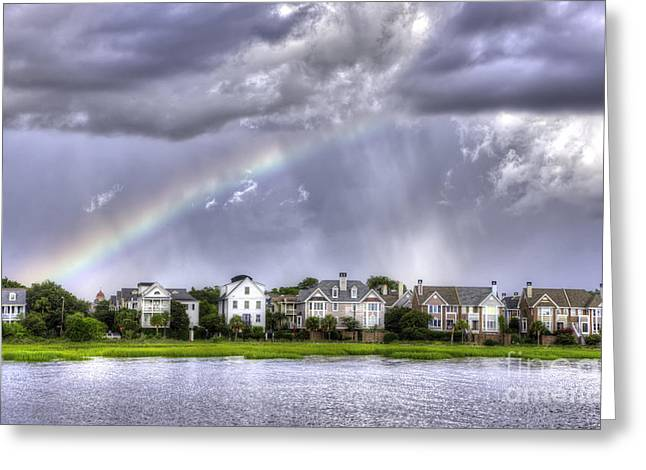 Charleston Houses Greeting Cards - Charleston Rainbow Homes Greeting Card by Dustin K Ryan