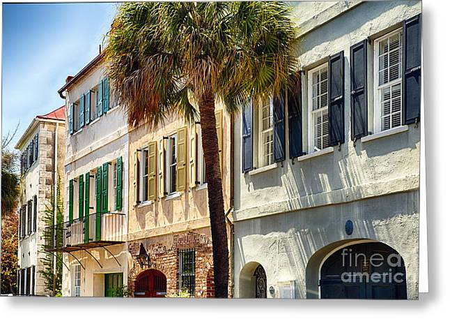 Palmetto Trees Greeting Cards - Charleston Street Scenic II Greeting Card by George Oze