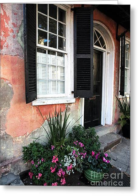 Old School House Greeting Cards - Charleston Welcome Greeting Card by John Rizzuto