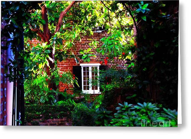 Hidden Corners Greeting Cards - Charlestons Charm and Hidden Gems  Greeting Card by Susanne Van Hulst