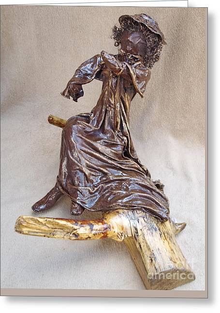 Quirky Sculptures Greeting Cards - Charlett - 2nd Photo Greeting Card by Vivian Martin