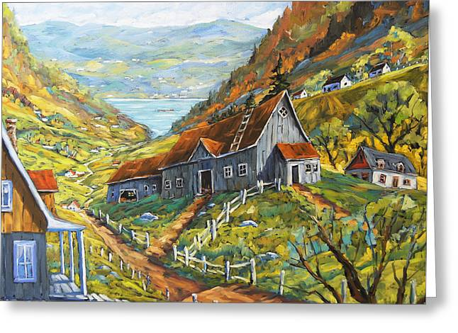 St. Laurent Greeting Cards - Charlevoix Valley by Prankearts Greeting Card by Richard T Pranke