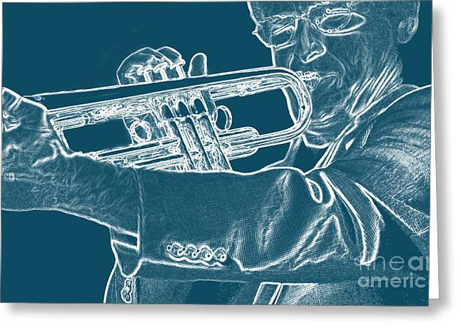 Negative Effect Greeting Cards - Charlie Bertini Greeting Card by James L. Amos