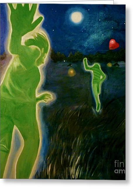 Coldplay Paintings Greeting Cards - Charlie Brown Greeting Card by Rachel Faye Elliott