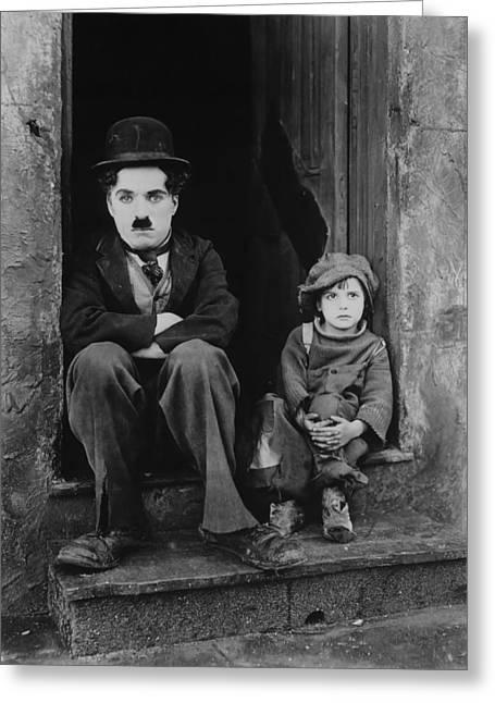 Charlie Chaplin 1921 Greeting Card by Mountain Dreams