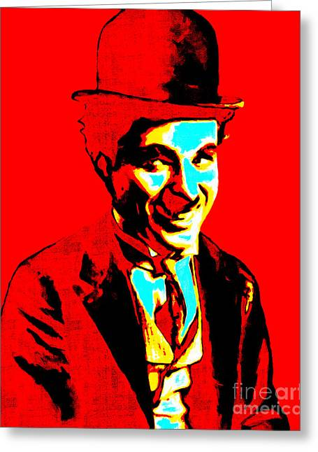Charlie Chaplin Greeting Cards - Charlie Chaplin 20130212 Greeting Card by Wingsdomain Art and Photography
