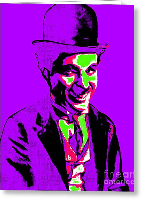 Comedian Greeting Cards - Charlie Chaplin 20130212m78 Greeting Card by Wingsdomain Art and Photography