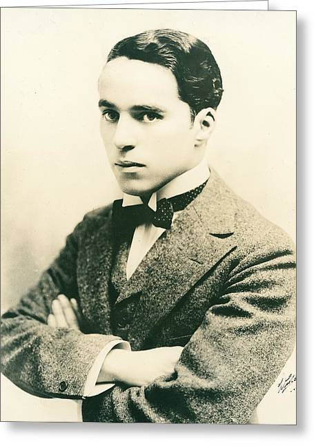 Celebrities Photographs Greeting Cards - Charlie Chaplin Greeting Card by American Photographer
