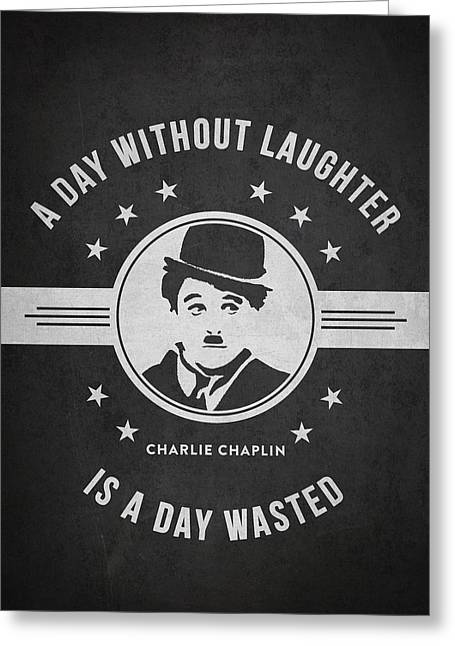 Charlie Chaplin Greeting Cards - Charlie Chaplin - Dark Greeting Card by Aged Pixel
