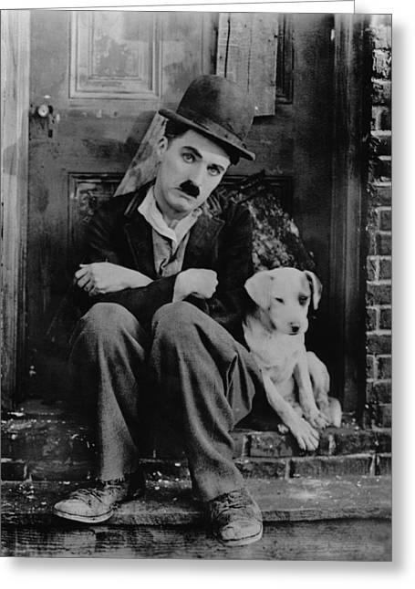Chaplin Poster Greeting Cards - Charlie Chaplin Greeting Card by Gianfranco Weiss