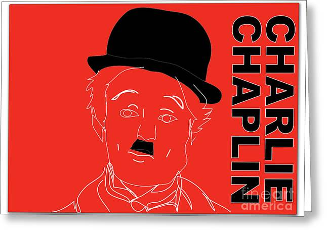 Chaplin Poster Greeting Cards - Charlie Chaplin Greeting Card by Marvin Blaine