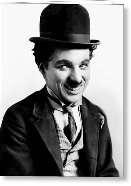 Comedian Greeting Cards - Charlie Chaplin Greeting Card by Mountain Dreams