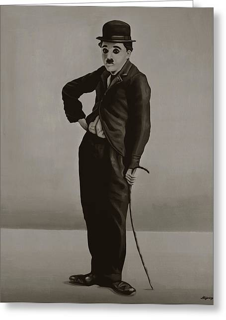 Chaplin Greeting Cards - Charlie Chaplin Greeting Card by Paul  Meijering