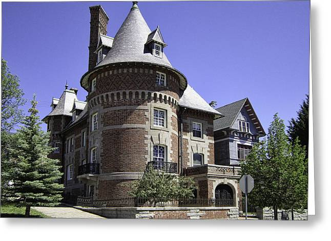 Charlie Clark's French Chateau - Butte Montana Greeting Card by Daniel Hagerman