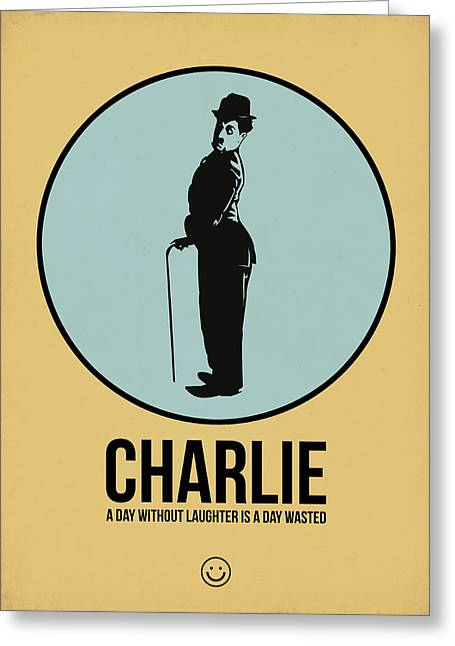 Chaplin Poster Greeting Cards - Charlie Poster 2 Greeting Card by Naxart Studio