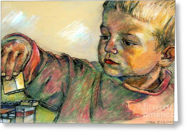 Youth Pastels Greeting Cards - Charlie Greeting Card by Stan Esson