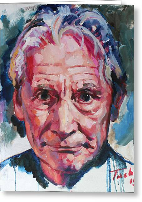 Keith Richards Paintings Greeting Cards - Charlie Watts Greeting Card by Tachi Pintor