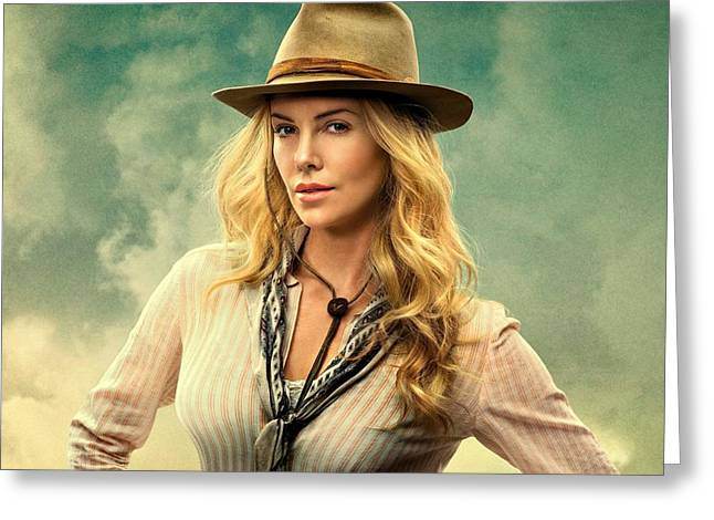 Charlize Theron A Million Ways To Die In The West  Greeting Card by Movie Poster Prints