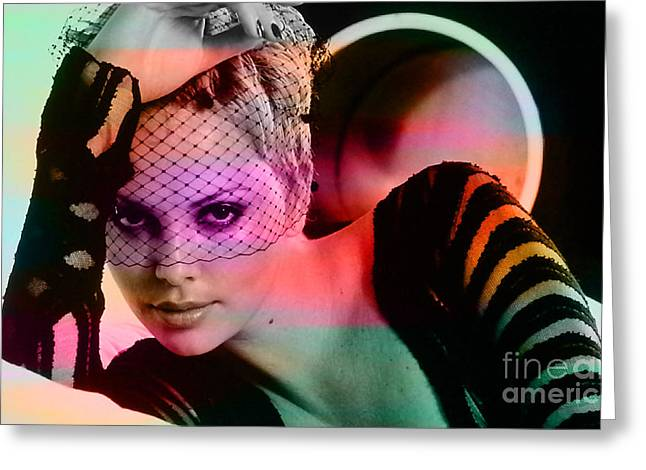 Charlize Theron  Greeting Card by Marvin Blaine