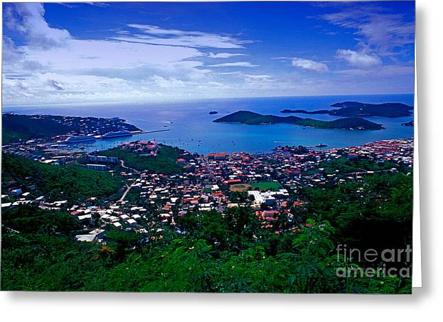 Charlotte Amalie Photographs Greeting Cards - Charlotte Amalie Port Greeting Card by Bill Bachmann