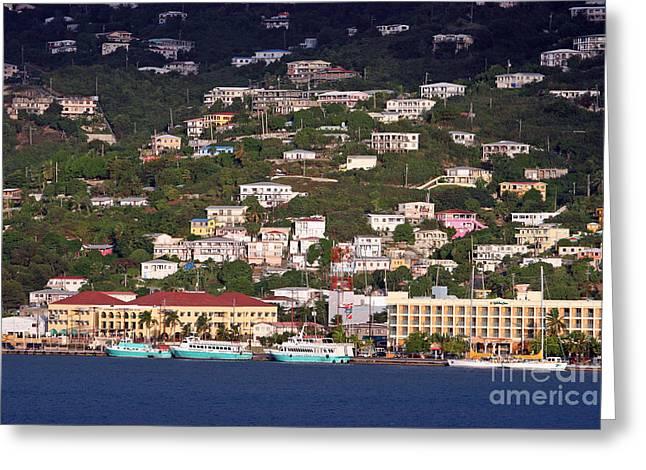 Charlotte Homes Greeting Cards - Charlotte Amalie United States Virgin Islands Greeting Card by Jason O Watson