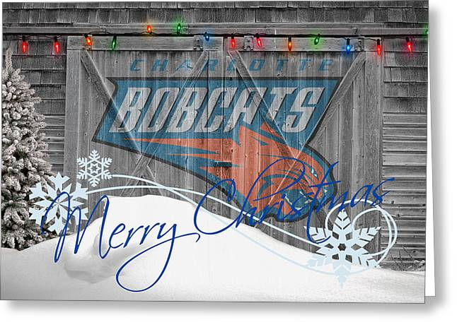 Bobcats Greeting Cards - Charlotte Bobcats Greeting Card by Joe Hamilton
