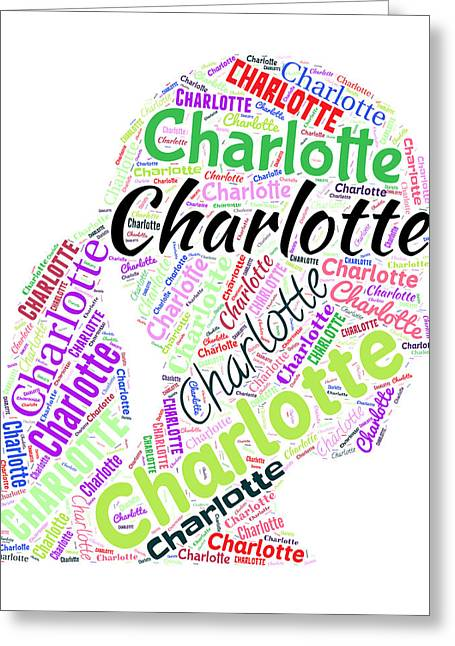 Charlotte Paintings Greeting Cards - Charlotte Greeting Card by Bruce Nutting
