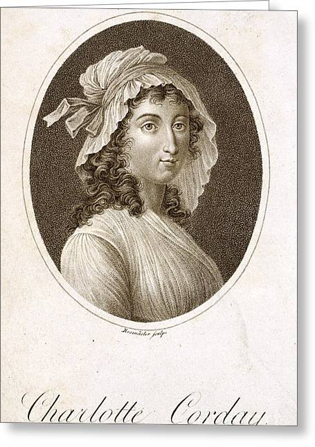 Charlotte Corday Greeting Card by British Library