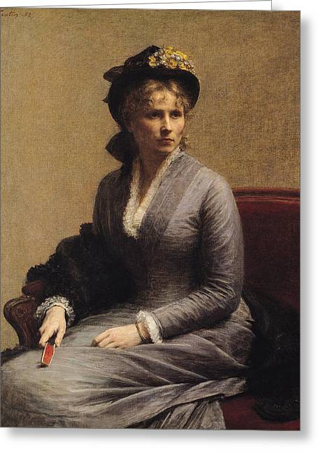 Cuff Greeting Cards - Charlotte Dubourg  Greeting Card by Ignace Henri Jean Fantin-Latour