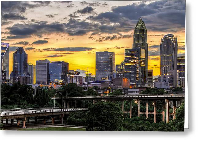 Charlotte Greeting Cards - Charlotte Dusk Greeting Card by Chris Austin