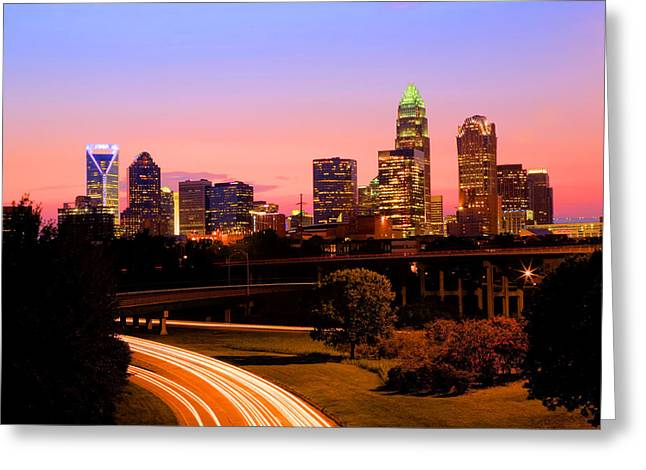 Charlotte Framed Photography Greeting Cards - Charlotte Evening Greeting Card by Jennifer Hogan