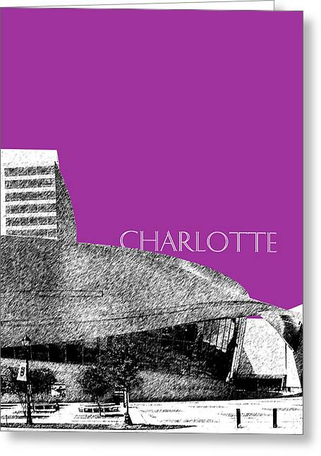 Charlotte Greeting Cards - Charlotte Nascar Hall of Fame - Plum North Carolina Greeting Card by DB Artist