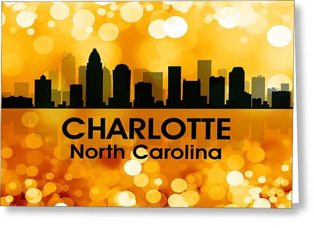 Charlotte Mixed Media Greeting Cards - Charlotte NC 3 Greeting Card by Angelina Vick