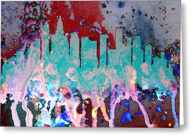 Charlotte Digital Art Greeting Cards - Charlotte NC  Greeting Card by Brian Reaves