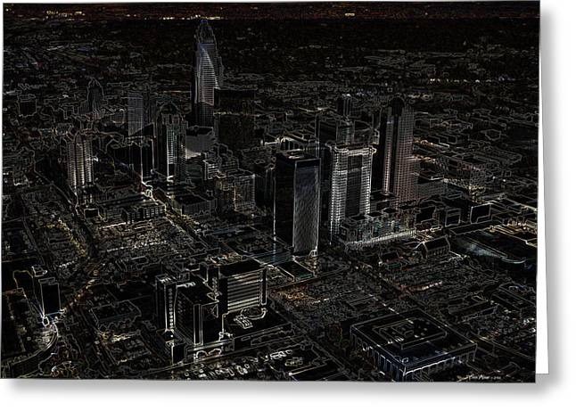 Charlotte Digital Art Greeting Cards - Charlotte Nc Greeting Card by EricaMaxine  Price