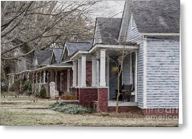 Charlotte Homes Greeting Cards - Charlotte NC Greeting Card by Georgianne Giese