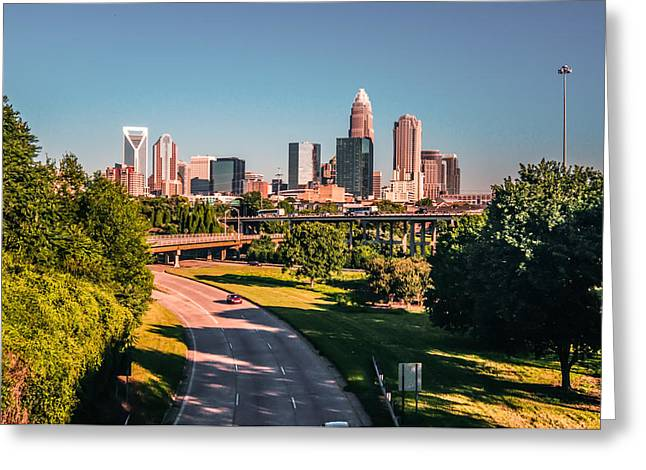 Uptown Rooftop Greeting Cards - Charlotte North Carolina Greeting Card by Alexandr Grichenko