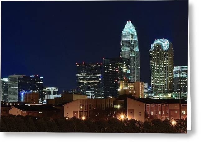 Downtown Charlotte Nc Greeting Cards - Charlotte North Carolina Greeting Card by Frozen in Time Fine Art Photography
