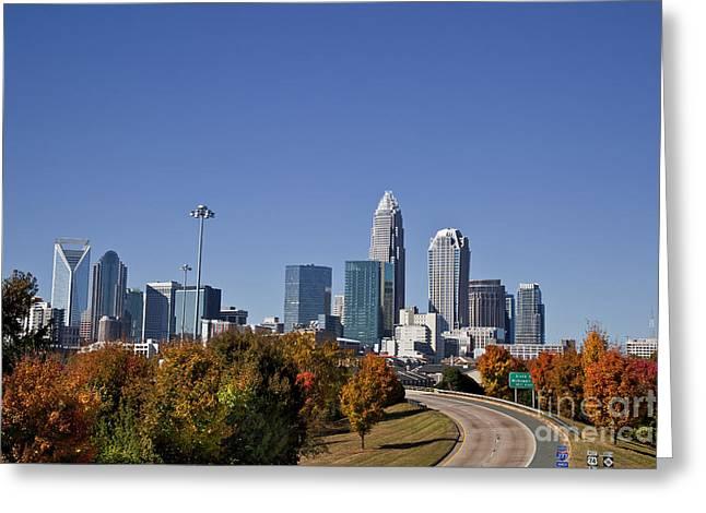Charlotte North Carolina Greeting Card by Jill Lang