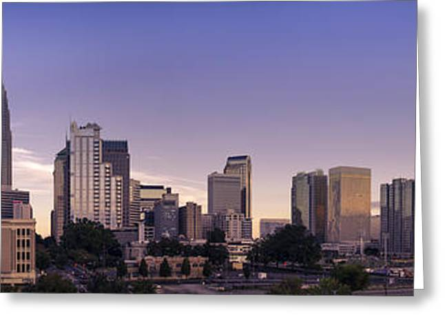 Charlotte Photographs Greeting Cards - Charlotte Panorama Greeting Card by Paul Scolieri