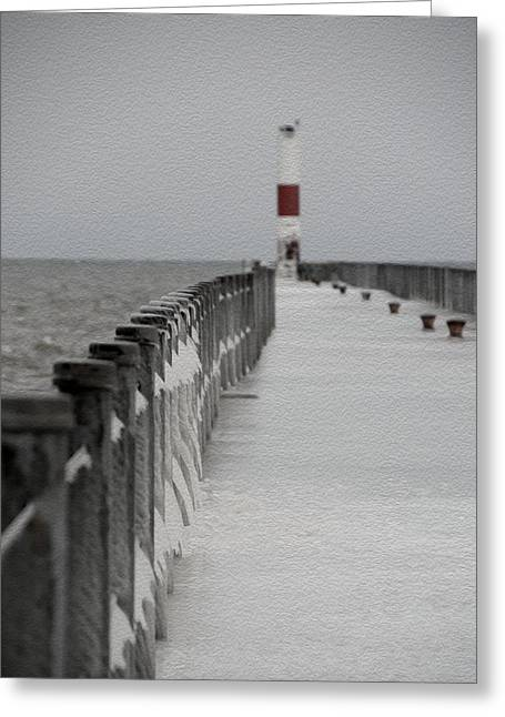 Charlotte Fine Art Greeting Cards - Charlotte Pier Greeting Card by Tracy Winter