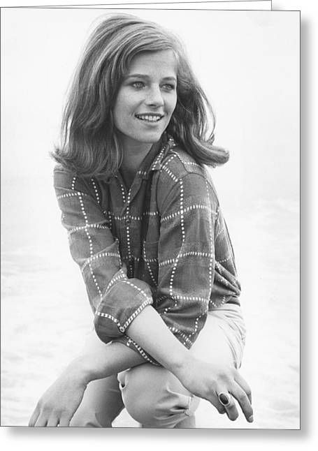 Charlotte Greeting Cards - Charlotte Rampling Greeting Card by Silver Screen