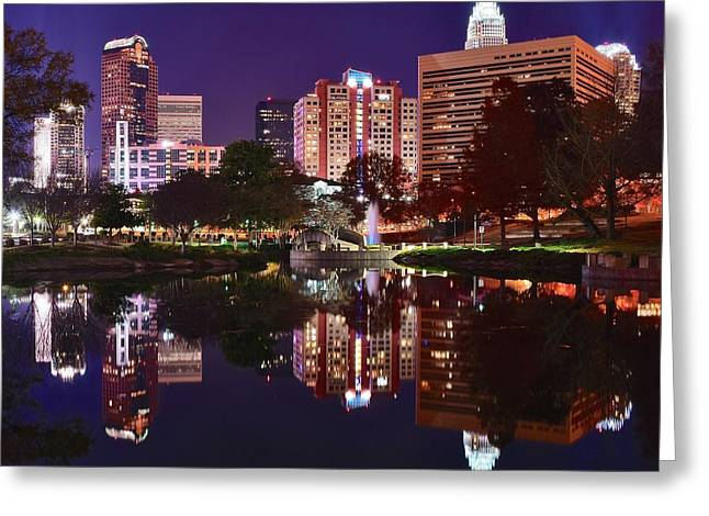 Municipality Greeting Cards - Charlotte Reflecting Greeting Card by Frozen in Time Fine Art Photography